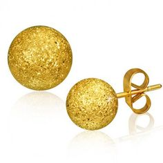 Cute 8mm Gold Color Ball Stud Earrings. #cute #stud #earrings #fashion