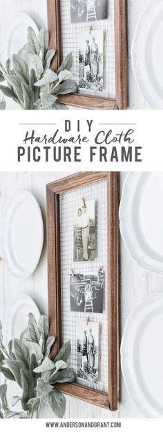 How to Display Photographs in a Unique DIY Picture Frame #affiliate