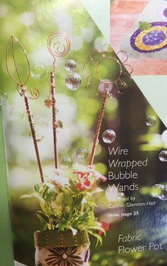 Copper wire wrapped bubble wands perfect for any garden party!