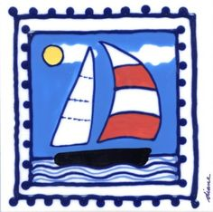 Decorative Whimsical Ceramic Tile Wall Art Hot Pad Trivet By Diane Artware - 6 X 6 Inch - Sailboat by Artworks Home Accents. $10.00. Diane creates light hearted and humorous unique, hand painted. The artist is based in the Virgin Islands and her work is some of the most highly collected Caribbean art today. Many uses: mounted wall art, incorporate into backsplashes, hot pads, trivets. Each tile measures 6x6 inches and has a hardboard backer for hanging or grouting.....