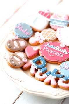 Hello baby! icing cookies