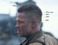 Ideas Haircut Men Undercut Brad Pitt Fury For 2019 Mens Haircuts Quiff, Undercut Men, Undercut Hairstyles, Haircuts For Men, Cool Hairstyles, Brad Pitt Hairstyles, Mens Haircut Undercut, Barber Haircuts, Hairstyle Men