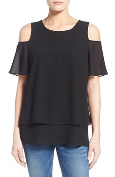 Bobeau Tiered Cold Shoulder Top available at #Nordstrom