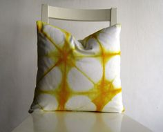 yellow pillow $25 etsy