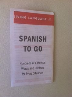 """Spanish booklet for the out-of-towners with important phrases like, """"Another gin-filled coconut, please."""""""