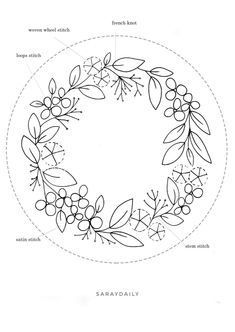 Hand Embroidery Patterns Flowers, Hand Embroidery Projects, Basic Embroidery Stitches, Hand Embroidery Videos, Embroidery Flowers Pattern, Hand Embroidery Designs, Cross Stitch Embroidery, Korn, Crochet