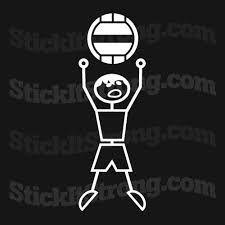 Wall Ball Man Custom Auto Decal