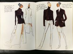 Sketches from my ANNE KLEIN sketchbook 1994 Renaldo Barnette