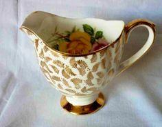 Vintage yellow rose cream jug