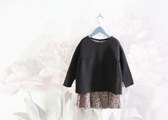 Layered Light Floral Print With Dark Top - I want to do this but use a sweater knit for the top.