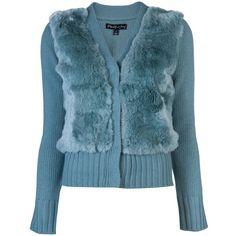 ELIZABETH AND JAMES Fur front cardigan ($365) ❤ liked on Polyvore