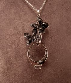 $32 wedding ring holder butterfly necklace