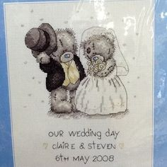 """Me to You """"Our Wedding Day"""" Counted Cross Stitch Kit   eBay"""