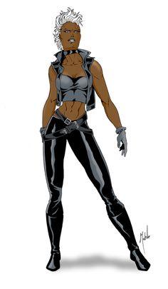 Storm by Mike Mahle Marvel Now, Marvel Comics, Comic Books Art, Comic Art, Book Art, X Men, Comic Character, Character Design, Storm Xmen