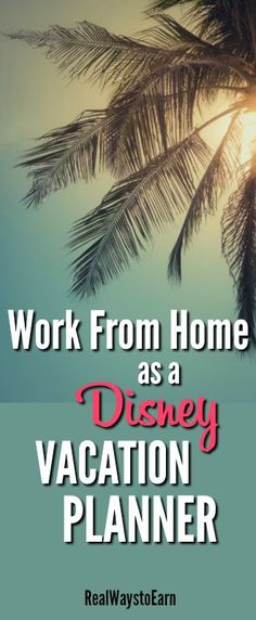 Do you absolutely love Disney World and know everything about it? if so, you could possibly get a job working at home as a Disney vacation planner. I went to Disney with my family last year and we worked with a great planner who let me know she works at home -- so I interviewed her about what she does here.