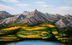 At first glance, this may look like a landscape painted on canvas. But on closer inspection, the rolling green hills are actually painted onto a woman's naked body. Craig Tracy spent hours painstakingly painting the woman's curves to create the optical illusion.