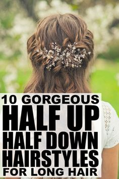 If you're looking for the perfect summer updos for long hair, but you're sick and tired of tying your locks into a boring mom ponytail or messy bun day after day, check out this fantastic collection of half up half down #hairstyles for #longhair!