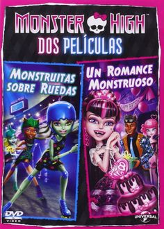 DVD. Monster High: monstruitas sobre ruedas + Un romance monstruoso.