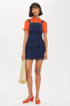 f6c56add5fbc Denim Pinafore Dress - New In Fashion - New In - Topshop Europe Denim  Pinafore,