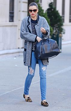 Mix and match prints with jeans