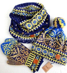 Knitted beanie with jacquard patterns - Modnoe Vyazanie ru.com