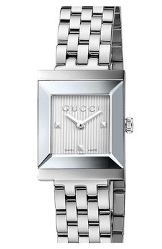 Gucci 'G Frame' Square Case Bracelet Watch, 19mm available at #Nordstrom