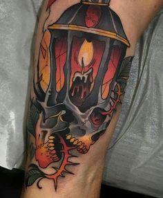 Skull Tattoos, Body Art Tattoos, Sleeve Tattoos, Henna Tattoos, Tattoo Sketches, Tattoo Drawings, New Traditional Tattoo, American Traditional, Traditional Art