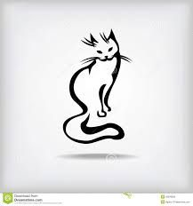 Image result for cat line drawing tattoo