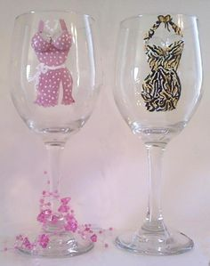 Painted Wine Glasses | Hand Painted Wine Glasses