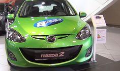 Electric green Mazda 2