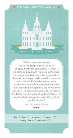 [Printable] Visiting Teaching June 2016 handout LDS Mormon