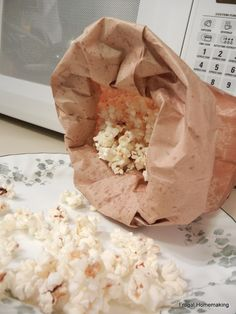 Frugal Homemaking: Homemade Kettle Corn -- In the Microwave. We added cinnamon and boom our brains exploded