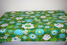 Summer  Flower Tablecloth by CheekyVintageCloset on Etsy, $22.00