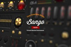 Ad: Bango UI Psd kit by TITO on Construсtor kit for your virtual instruments. -All elements layered. -Text effects Business Brochure, Business Card Logo, Ui Elements, Text Effects, Ui Kit, Paint Markers, User Interface, Website Template, Instruments