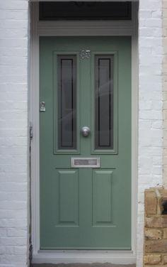 Solidor Ludlow Composite Door (but in French grey with door knocker for me! Black Front Doors, Front Door Colors, Composite Front Door, Building A Door, House Front Door, Front Porch, Shop Doors, Victorian Door, Door Canopy