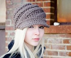 Etsy: Knit Hat Pattern - Knitting Pattern PDF for The Swirl Beanie Hat With and Without Visor - Black Friday Etsy Cyber Monday Etsy. $5.00, via Etsy.