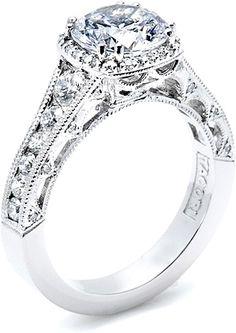 Tacori Channel-Set & Pave Round Diamond Engagement Ring HT2515