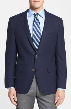 Samuelsohn Classic Fit Wool Travel Blazer available at #Nordstrom