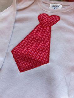 Boy Valentine Shirt Heart Tie Valentine's Day by Rubyandoliver