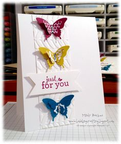 Stampin' Up! CAS Card BItty Butterfly Punch   by Mindy Backes at Bada-Bing! Paper-Crafting!