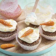 Carrot-Cupcakes mit Ananas Rezept | Küchengötter