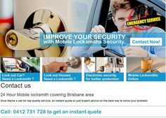 Mobile Locksmiths in Brisbane possess expertise in preparing the new key in replacement of damaged or work out keys. We have complete range of new key making services in several circumstances like lock out car, units and houses. We use ignition repair system to prepare transponder and immobilizer keys. Website: http://mobilelocksmithsbrisbane.com.au/
