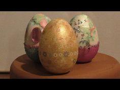 How to decorate eggs (styrofoam) with nail art/Πως διακοσμώ αυγά (φελιζόλ) με υλικά για μανικιούρ - YouTube