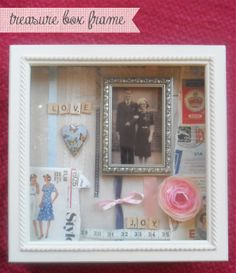 DIY Vintage Treasure Box Frame by In the Treehouse