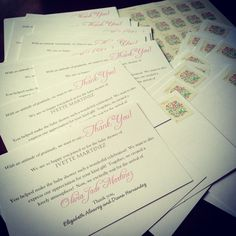 "Baby shower ""Thank You"" cards by Diana Hernandez for @xoxivettexox..."