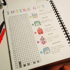 110 vind-ik-leuks, 12 reacties - Karolanne Charest (@karolanne_c) op Instagram: '#moodtracker for #2017 is ready ! #bujo #insideout #bulletjournal #chaquejourcompte'