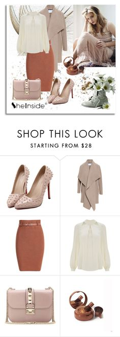 """""""Shein (2)  10"""" by aida-1999 ❤ liked on Polyvore featuring Harris Wharf London, Temperley London, Valentino, Elizabeth Arden, women's clothing, women's fashion, women, female, woman and misses"""