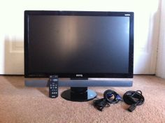 "27"" HD Benq monitor, controller, power, sound and vga cables included.  $100 http://www.benq.ca/product/monitor/m2700hd"