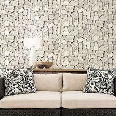 Tumbled Stone Wallpaper. Norwall Illusions II. Patton Wallcoverings. http://lelandswallpaper.com