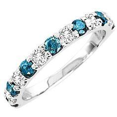Details about Ladies Blue/White Diamond Prong Set Fashion Wedding Band Ring Ct Square Diamond Rings, Buy Diamond Ring, Diamond Bands, Diamond Wedding Bands, Blue Diamond Jewelry, Real Gold Jewelry, Fine Jewelry, Bling Bling, Cool Wedding Rings